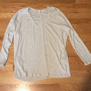 Light grey long sleeve